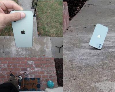 Teste de Resistência iPhone 12. Youtubers jogam aparelhos na calçada